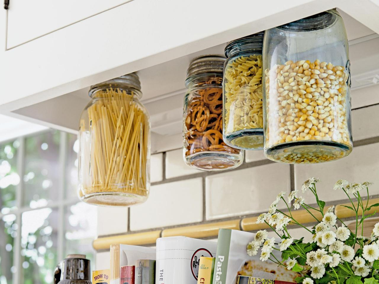 natural mason jar kitchen