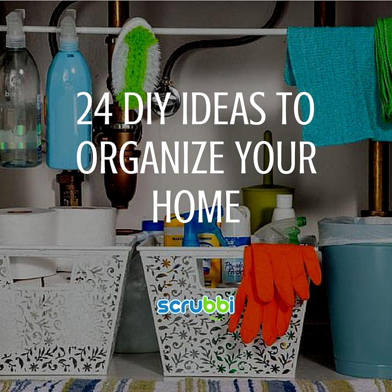 24 diy ideas to organize your home